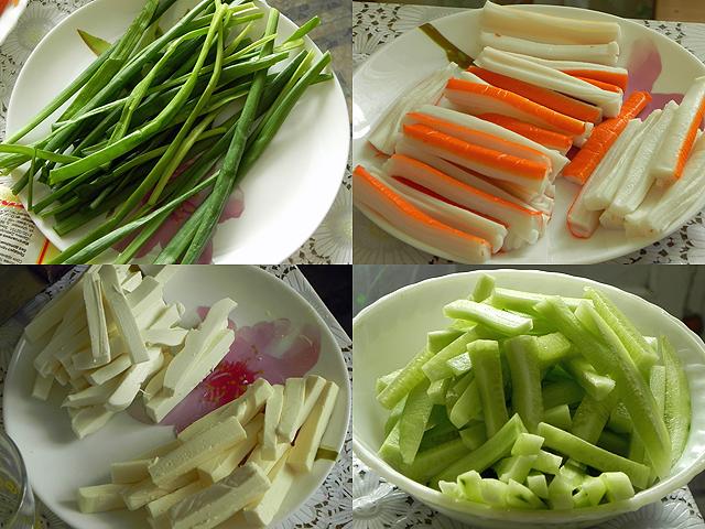 Ингредиенты для начинки роллов
