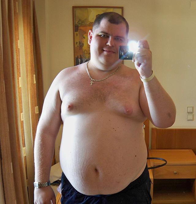 Я до похудения в 2012 году